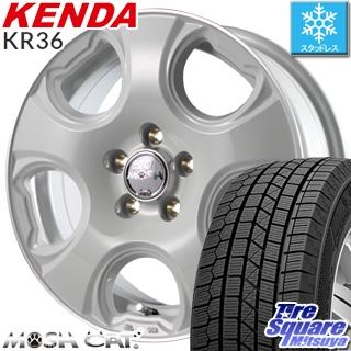 KENDA ICETEC NEO KR36 2018年製 スタッドレス スタッドレスタイヤ 185/65R15 MANARAY MOSH CAT モッシュキャット ホイールセット 4本 15インチ 15 X 6 +45 5穴 100