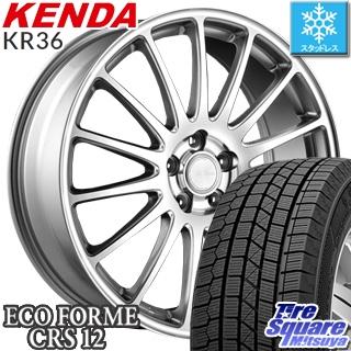 KENDA ICETEC NEO KR36 2018年製 在庫● スタッドレス スタッドレスタイヤ 185/60R15 ブリヂストン ECOFORM エコフォルム CRS12 ホイールセット 4本 15インチ 15 X 6 +45 5穴 114.3