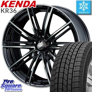 KENDA スタッドレスタイヤ ICETEC NEO KR36 2018年製 スタッドレス 215/60R16 WEDS WedsSport ウェッズ スポーツ SA-54R ホイールセット 4本 16インチ 16 X 7 +42 5穴 114.3
