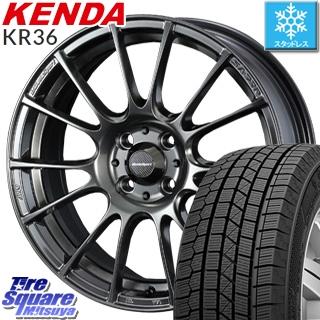 KENDA スタッドレスタイヤ ICETEC NEO KR36 2018年製 スタッドレス 215/60R16 WEDS WedsSport ウェッズ スポーツ SA-72R ホイールセット 4本 16インチ 16 X 7 +52 5穴 114.3
