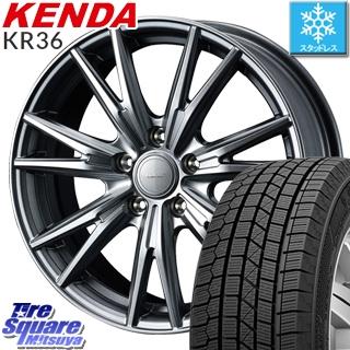 【5/10 Rカードで最大46倍】 KENDA ICETEC NEO KR36 2019年製【特価】ケンダ スタッドレスタイヤ 195/60R15 WEDS 37564 ウェッズ ヴェルヴァ KEVIN(ケビン) ホイールセット 15インチ 15 X 6.0J +43 5穴 100