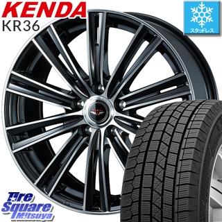 KENDA ICETEC NEO KR36 2018年製 スタッドレス スタッドレスタイヤ 195/65R15 WEDS ウェッズ TEAD SNAP テッドスナップ ホイールセット 4本 15インチ 15 X 6 +43 5穴 100