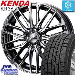 KENDA スタッドレスタイヤ ICETEC NEO KR36 2018年製 スタッドレス 195/45R16 WEDS ウェッズ Leonis レオニス SK 4本 ホイール 16インチ 16 X 6 +42 4穴 100
