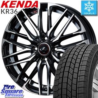 KENDA ICETEC NEO KR36 2018年製 在庫● スタッドレス スタッドレスタイヤ 165/65R14 WEDS ウェッズ Leonis レオニス SK 4本 ホイール 14インチ 14 X 4.5 +45 4穴 100