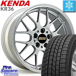 KENDA ICETEC NEO KR36 2019年製 スタッドレス スタッドレスタイヤ 225/45R18 BBS RG-R 鍛造1ピース ホイールセット 4本 18インチ 18 X 7.5 +50 5穴 114.3