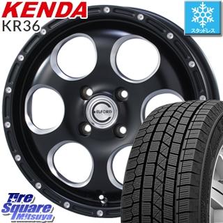 KENDA スタッドレスタイヤ ICETEC NEO KR36 2018年製 スタッドレス 165/50R15 MEIWA Blood Stock K'S ホイールセット 4本 15インチ 15 X 4.5 +43 4穴 100