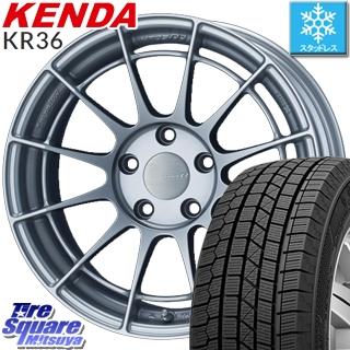 KENDA ICETEC NEO KR36 2019年製 スタッドレス スタッドレスタイヤ 215/60R17 ENKEI Racing Revolution NT03RR ホイールセット 4本 17 X 8 +35 5穴 114.3