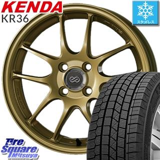 【5/10 Rカードで最大46倍】 KENDA ICETEC NEO KR36 2019年製【特価】ケンダ スタッドレスタイヤ軽自動車 165/55R15 ENKEI エンケイ PerformanceLine PF01 ホイールセット 15 X 5.0J +45 4穴 100