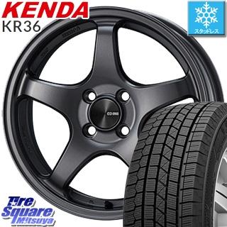 【4/20は最大26倍】 フィールダー KENDA ICETEC NEO KR36 2019年製【特価】ケンダ スタッドレスタイヤ 195/60R15 ENKEI PerformanceLine PF05 ホイールセット 15インチ 15 X 6.0J +40 4穴 100