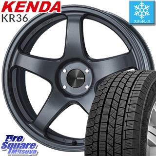 【5/10 Rカードで最大46倍】 KENDA ICETEC NEO KR36 2019年製【特価】ケンダ スタッドレスタイヤ軽自動車 165/55R15 ENKEI エンケイ PerformanceLine PF05 ホイールセット 15インチ 15 X 5.0J +45 4穴 100