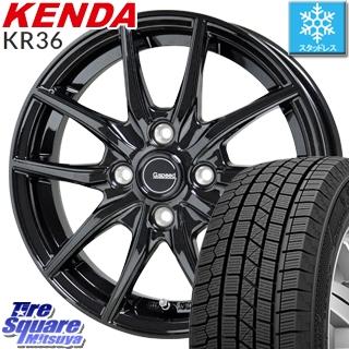【5/10 Rカードで最大46倍】 KENDA ICETEC NEO KR36 2019年製【特価】ケンダ スタッドレスタイヤ 155/55R14 HotStuff G.speed G-02 G02 ブラック ホイールセット 14インチ 14 X 4.5J +45 4穴 100