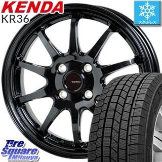 【予告5/10 Rカードで最大46倍!】 KENDA ICETEC NEO KR36 2019年製【特価】ケンダ スタッドレスタイヤ 155/55R14 HotStuff G-SPEED G-04 ブラック ホイールセット 14インチ 14 X 4.5J +45 4穴 100