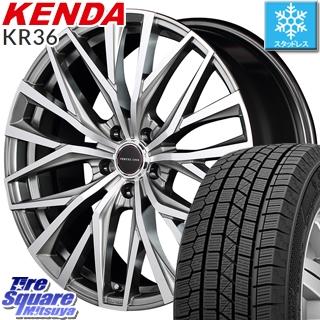 KENDA スタッドレスタイヤ ICETEC NEO KR36 2018年製 スタッドレス 235/50R18 MANARAY VERTEC ONE ALBATROSS ホイールセット 4本 18 X 8 +42 5穴 114.3