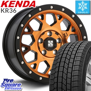 KENDA スタッドレスタイヤ ICETEC NEO KR36 2018年製 在庫● スタッドレス 205/65R16 MLJ エクストリームJ XJ04 アクティブオレンジ ホイールセット 4本 16インチ 16 X 7 +38 5穴 114.3