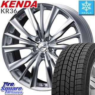 KENDA スタッドレスタイヤ ICETEC NEO KR36 2018年製 スタッドレス 205/45R17 WEDS ウェッズ Leonis レオニス VX ホイールセット 4本 17インチ 17 X 7 +53 5穴 114.3
