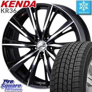 KENDA スタッドレスタイヤ ICETEC NEO KR36 2018年製 スタッドレス 215/45R17 WEDS ウェッズ Leonis レオニス WX ホイールセット 4本 17インチ 17 X 7 +42 5穴 114.3