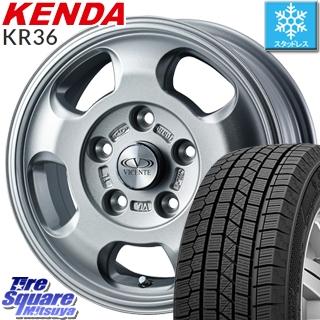 【5/10 Rカードで最大46倍】 KENDA ICETEC NEO KR36 2019年製【特価】ケンダ スタッドレスタイヤ 195/65R15 WEDS 36580 ヴィセンテ05 ホイールセット 15インチ 15 X 6.0J +45 5穴 114.3