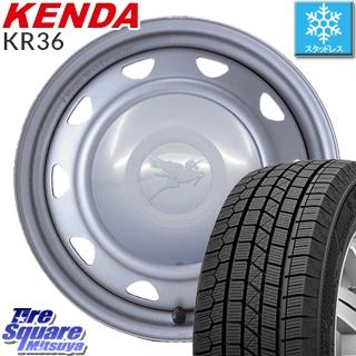 【5/10 Rカードで最大46倍】 KENDA ICETEC NEO KR36 2019年製【特価】ケンダ スタッドレスタイヤ 195/60R15 WEDS キャロウィン スチールホイール セット 15インチ 15 X 6.0J +45 4穴 100