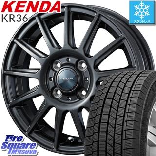 【予告5/10 Rカードで最大46倍!】 KENDA ICETEC NEO KR36 2019年製【特価】ケンダ スタッドレスタイヤ 155/55R14 WEDS ヴェルバ イゴール ホイールセット 14インチ 14 X 4.5J +45 4穴 100