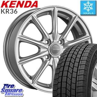 KENDA ICETEC NEO KR36 2019年製 スタッドレス スタッドレスタイヤ 195/65R15 ブリヂストン エコフォルム SE-15 平座仕様(トヨタ車専用) ホイールセット 4本 15インチ 15 X 5.5 +45 4穴 100