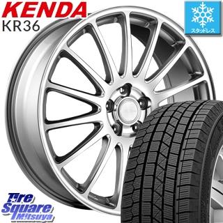 KENDA スタッドレスタイヤ ICETEC NEO KR36 2018年製 スタッドレス 225/45R18 ブリヂストン ECOFORM エコフォルム CRS12 ホイールセット 4本 18インチ 18 X 7.5 +42 5穴 114.3
