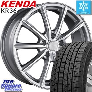 KENDA スタッドレスタイヤ ICETEC NEO KR36 2018年製 スタッドレス 225/45R18 ブリヂストン ECO FORME CRS15 ホイールセット 4本 18 X 7.5 +53 5穴 114.3