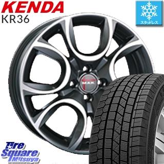 KENDA ICETEC NEO KR36 2019年製 スタッドレス スタッドレスタイヤ 205/55R16 阿部商会 MAK TORINO(トリノ) ホイールセット 4本 16インチ 16 X 6.5 +35 4穴 98