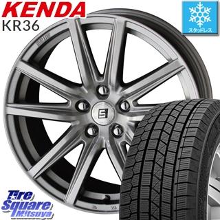 KENDA ICETEC NEO KR36 2019年製 スタッドレス スタッドレスタイヤ 225/55R17 KYOHO SEIN-SS ザインSS ホイールセット 4本 17インチ 17 X 7 +38 5穴 114.3