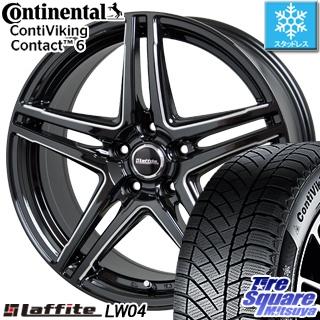 コンチネンタル Viking Contact 6 スタッドレス スタッドレスタイヤ 215/60R17 HotStuff Laffite ラフィット LW-04 4本 ホイールセット 17インチ 17 X 7 +48 5穴 114.3
