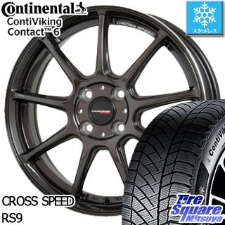 コンチネンタル Viking Contact 6 スタッドレス スタッドレスタイヤ 155/65R14 HotStuff クロススピード RS9 ハイパーエディション 軽量 ホイールセット 4本 14インチ 14 X 4.5 +45 4穴 100