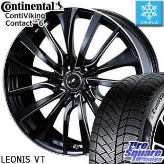 コンチネンタル Viking Contact 6 スタッドレス スタッドレスタイヤ 245/45R19 WEDS ウェッズ Leonis レオニス VT ホイールセット 4本 19インチ 19 X 8 +43 5穴 114.3