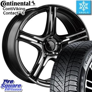 コンチネンタル スタッドレスタイヤ Viking Contact 6 バイキングコンタクト6 スタッドレス 225/40R18 ブリヂストン Adrenalin アドレナリン SW005 ホイールセット 4本 18インチ 18 X 8.5 +42 5穴 114.3
