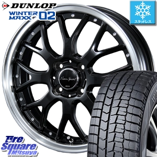 DUNLOP スタッドレスタイヤ ダンロップ WINTER MAXX 02 ウィンターマックス WM02 スタッドレス 175/65R15 BLEST Eurosport Type815 ホイールセット 4本 15インチ 15 X 5.5 +42 4穴 100