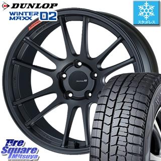 DUNLOP WINTER MAXX 02 ウィンターマックス WM02 ダンロップ スタッドレスタイヤ スタッドレス 245/40R18 ENKEI Racing Revolution GTC01RR ホイールセット 4本 18 X 8.5 +42 5穴 114.3