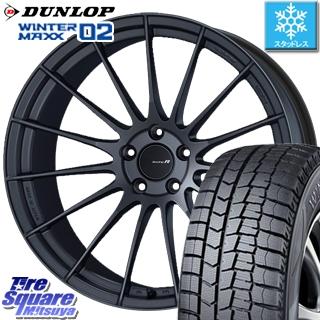 DUNLOP WINTER MAXX 02 ウィンターマックス WM02 CUV ダンロップ スタッドレスタイヤ スタッドレス 235/55R20 ENKEI Racing Revolution RS05RR ホイールセット 4本 20 X 8.5 +36 5穴 114.3