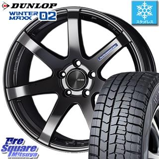 DUNLOP WINTER MAXX 02 ウィンターマックス WM02 ダンロップ スタッドレスタイヤ スタッドレス 245/40R19 ENKEI PerformanceLine PF07 -COLORS- ホイールセット 4本 19 X 8 +45 5穴 114.3