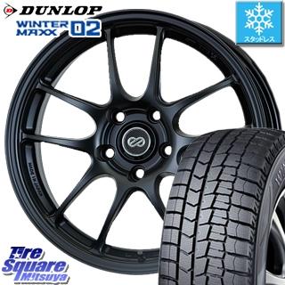DUNLOP WINTER MAXX 02 ウィンターマックス WM02 ダンロップ スタッドレスタイヤ スタッドレス 215/45R17 ENKEI PerformanceLine PF01 ホイールセット 4本 17 X 7 +38 5穴 114.3