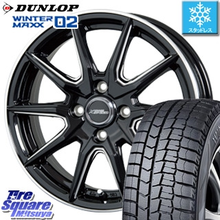 DUNLOP スタッドレスタイヤ ダンロップ WINTER MAXX 02 ウィンターマックス WM02 スタッドレス 185/65R15 HotStuff クロススピードプレミアム RS-10 軽量 4本 ホイールセット 15インチ 15 X 5.5 +43 4穴 100