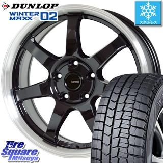 DUNLOP スタッドレスタイヤ ダンロップ WINTER MAXX 02 ウィンターマックス WM02 スタッドレス 185/60R15 HotStuff 軽量設計!G.speed P-03 ホイールセット 4本 15インチ 15 X 6 +43 5穴 114.3