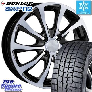 DUNLOP スタッドレスタイヤ ダンロップ WINTER MAXX 02 ウィンターマックス WM02 CUV スタッドレス 165/60R15 ブリヂストン BALMINUM T10 ホイールセット 4本 15 X 4.5 +48 4穴 100
