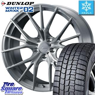 DUNLOP WINTER MAXX 02 ウィンターマックス WM02 ダンロップ スタッドレスタイヤ スタッドレス 235/50R18 WEDS F ZERO FZ-1 鍛造 FORGED ホイールセット 4本 18 X 7.5 +38 5穴 114.3
