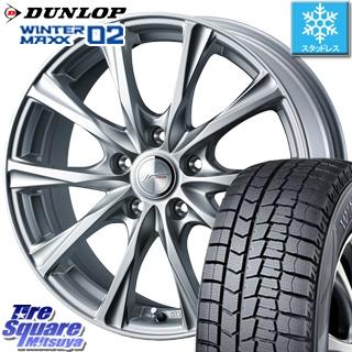 DUNLOP WINTER MAXX 02 ウィンターマックス WM02 CUV ダンロップ スタッドレスタイヤ スタッドレス 215/70R16 WEDS 36776 ジョーカーマジック ホイールセット 4本 16インチ 16 X 6.5 +47 5穴 114.3