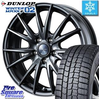 DUNLOP スタッドレスタイヤ ダンロップ WINTER MAXX 02 ウィンターマックス WM02 スタッドレス 185/60R15 WEDS ウェッズ ヴェルヴァ SPORT(スポルト) ホイールセット 4本 15インチ 15 X 6 +43 5穴 114.3