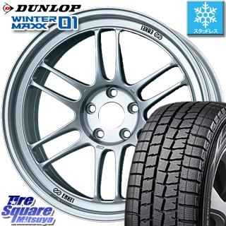DUNLOP WINTER MAXX 01 ウィンターマックス WM01 ダンロップ スタッドレスタイヤ スタッドレス 215/60R17 ENKEI Racing RPF1 ホイールセット 4本 17 X 8 +35 5穴 114.3