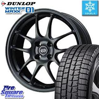 DUNLOP WINTER MAXX 01 ウィンターマックス WM01 ダンロップ スタッドレスタイヤ スタッドレス 195/55R16 ENKEI PerformanceLine PF01 ホイールセット 4本 16 X 7 +43 4穴 100
