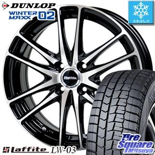 DUNLOP ダンロップ WINTER MAXX 02 ウィンターマックス WM02 スタッドレス スタッドレスタイヤ 165/70R14 HotStuff Laffite ラフィット LW-03 ホイールセット 4本 14インチ 14 X 4.5 +45 4穴 100