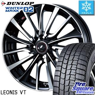 DUNLOP ダンロップ WINTER MAXX 02 ウィンターマックス WM02 スタッドレス スタッドレスタイヤ 175/60R14 WEDS ウェッズ Leonis レオニス VT ホイールセット 4本 14インチ 14 X 5.5 +42 4穴 100