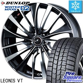 DUNLOP ダンロップ WINTER MAXX 02 ウィンターマックス WM02 CUV スタッドレス スタッドレスタイヤ 215/55R18 WEDS ウェッズ Leonis レオニス VT ホイールセット 4本 18インチ 18 X 8 +42 5穴 114.3
