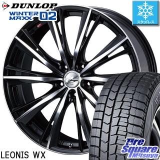 DUNLOP ダンロップ WINTER MAXX 02 ウィンターマックス WM02 CUV スタッドレス スタッドレスタイヤ 225/55R19 WEDS ウェッズ Leonis レオニス WX ホイールセット 4本 19インチ 19 X 8 +48 5穴 114.3
