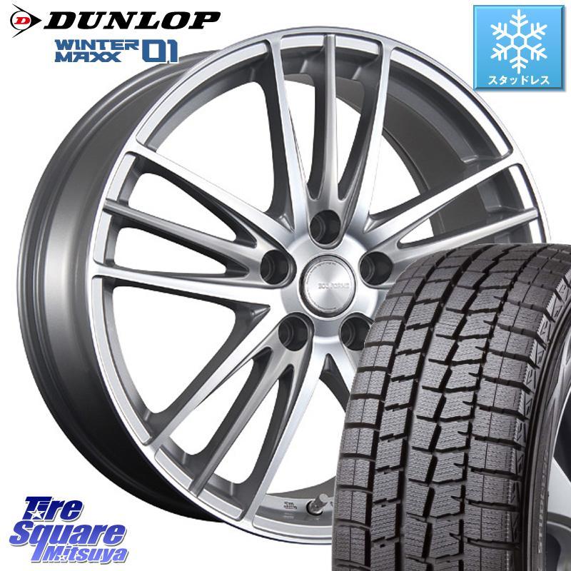 DUNLOP WINTER MAXX 01 ウィンターマックス WM01 ダンロップ スタッドレスタイヤ スタッドレス 225/45R18 ブリヂストン ECO FORME CRS 18 ホイールセット 4本 18 X 7.5 +53 5穴 114.3